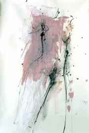Becoming | acrylic and ink on paper| 80 x 105 cm | 2007