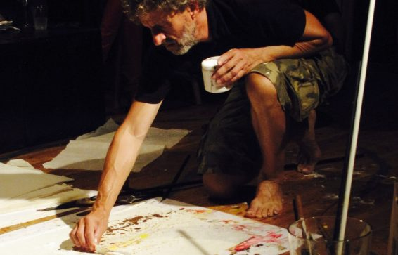 Jouke Kruijer at work, artist